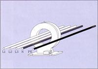 Kabeldragning - principskiss - Jordfelsövervakning - Superintend® från Unitrafo