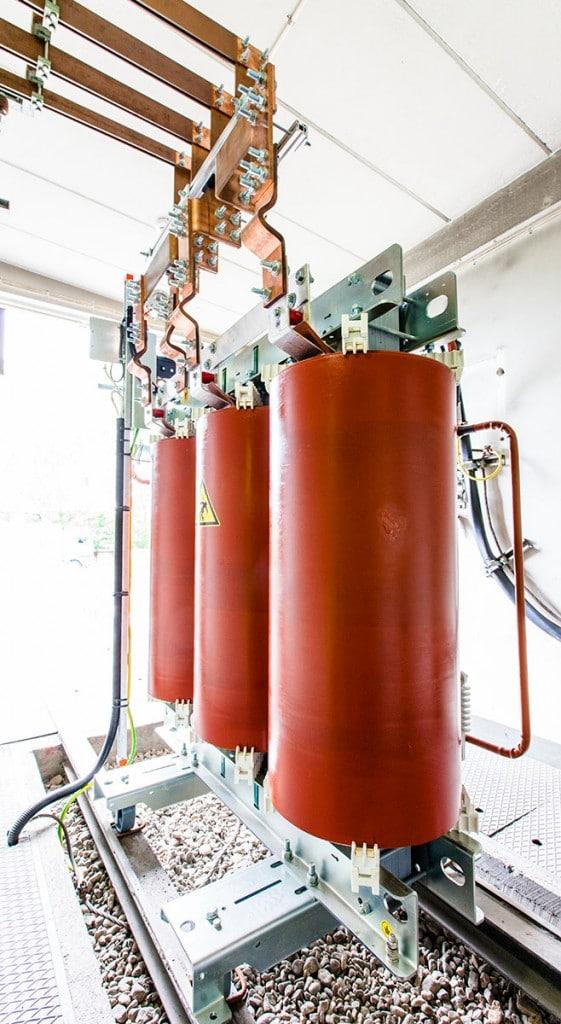 Gjuthartsisolerad transformator från Unitrafo i Tingstadstunneln Göteborg