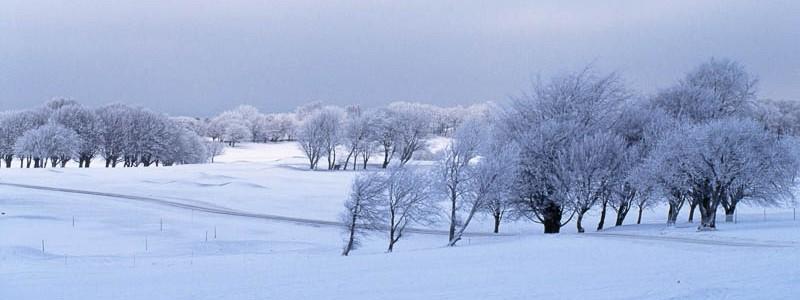 Vinterlandskap Båstad Golfklubb